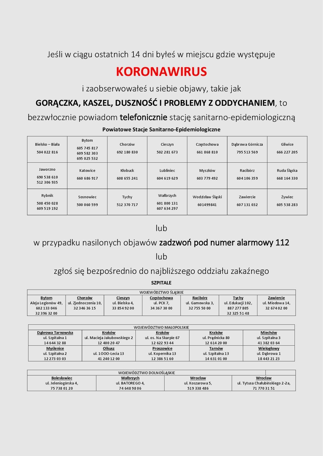 koronawirus - plakat